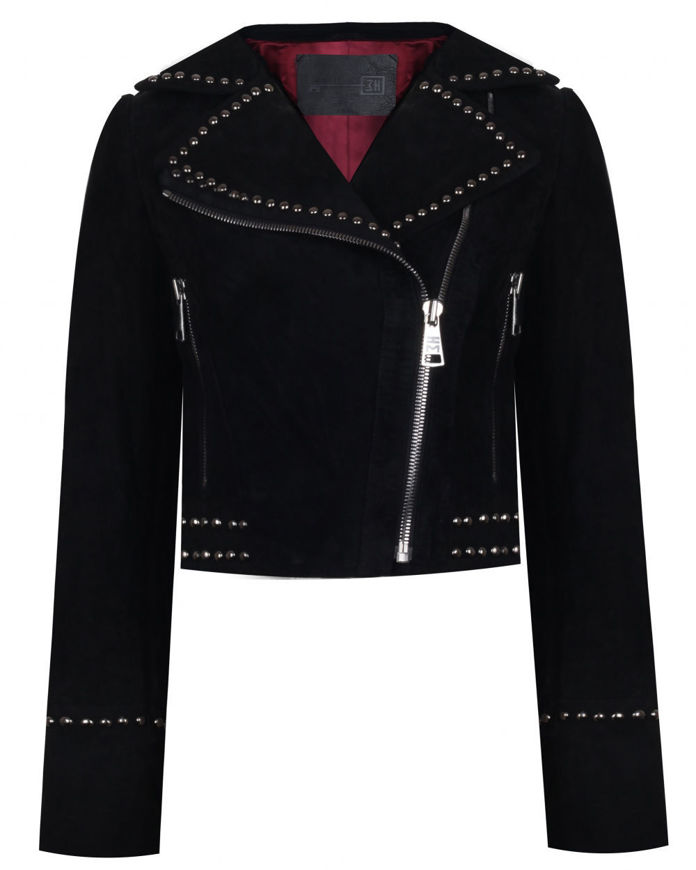 Picture of STUDDED SUEDE CLASSIC JACKET